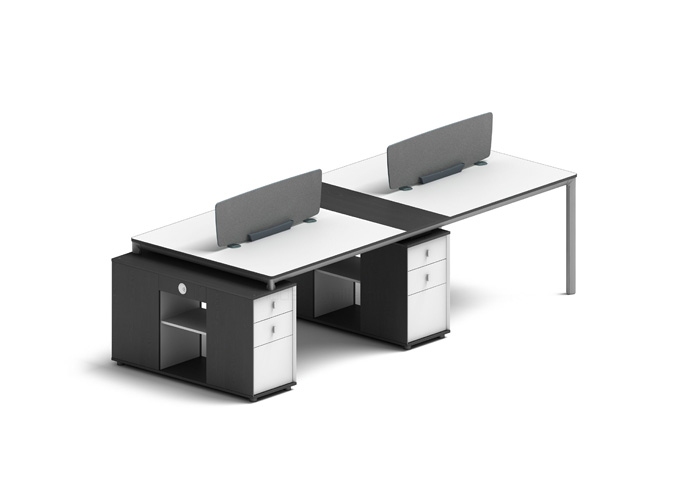 A02-P07 four staff workstation