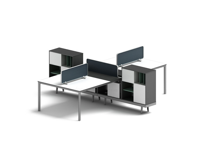 A02-P05 four staff workstation